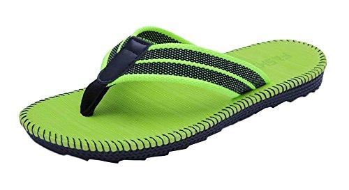 Casa Casual Verde y al aire libre Flip Flops Hombre Zapatillas