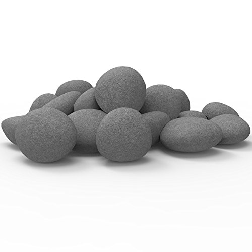 Cheap Regal Flame Set of 24 Light Weight Ceramic Fiber Gas Ethanol Electric Fireplace Pebbles in Gray Black Friday & Cyber Monday 2019