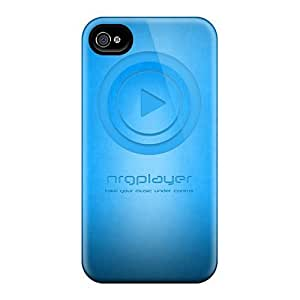 Top Quality Protection Nrg Player Blue Wall Case Cover For Iphone 4/4s