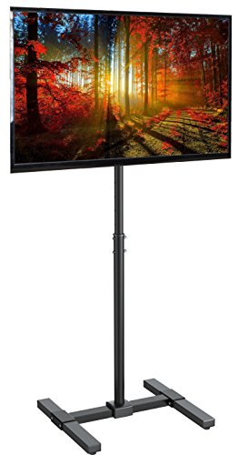 VIVO TV Display Portable Floor Stand Height Adjustable Mount for Flat Panel LED LCD Plasma Screen 13' to 42' (STAND-TV07)