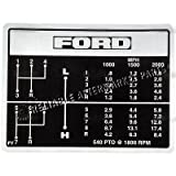 C5NN7B292FY Ford Tractor Shift Pattern Decal 2000 2600 3000 3400 3600 231 531