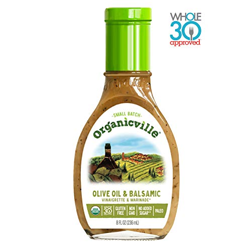 Organicville, Olive Oil and Balsamic Salad Dressing, 8 oz