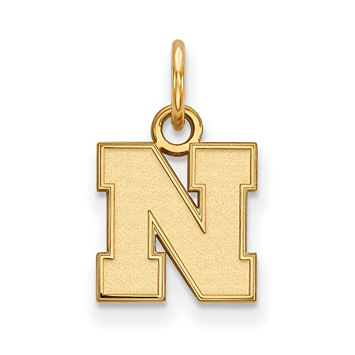 Nebraska Extra Small (3/8 Inch) Pendant (14k Yellow Gold) by LogoArt