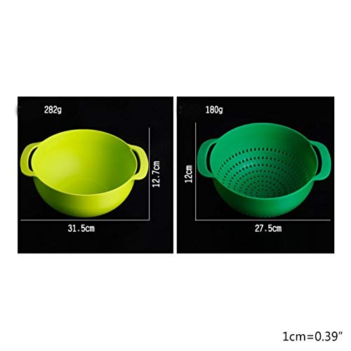 UXZDX 10 Pcs Mixing Bowls Set Nesting Bowls Stackable Measuring Cups Sieve Strainer Colander for Salad Cooking Baking Tool