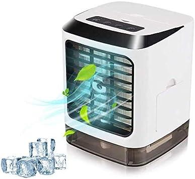 Desktop Mini Air k/ühler Air k/ühler Portable Air Ventilatoren USB Aufladen Low Noise Klimaanlage Luftbefeuchter f/ür Home Office Car H.eternal TM