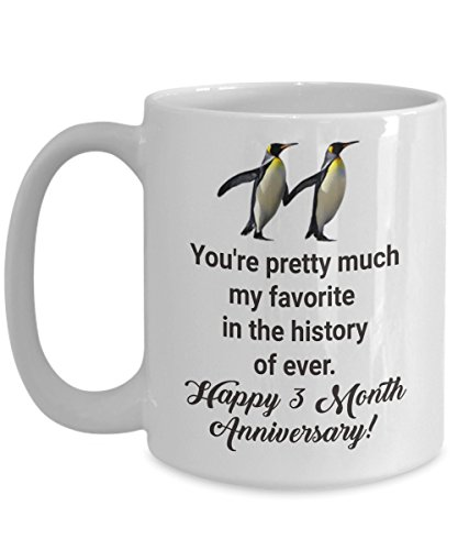 3 Month Coffee Club - 3 Month Dating Anniversary Gifts for Boyfriend from Girlfriend Him Her - You're My Favorite Ever - Happy Three 3rd rd Aniversary Ideas for Women Men
