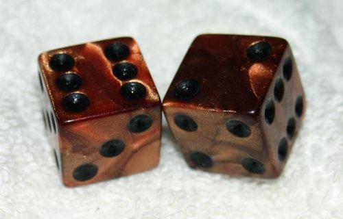 愛用  Copper Copper Metalic Colored Swirled Metalic Dice Pair Dice B000O7G7HE, フクトク:3aad30cd --- arianechie.dominiotemporario.com