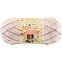 Bernat Softee Baby Yarn, Ombre, 4.2 Ounce, Pink Flannel, Single Ball