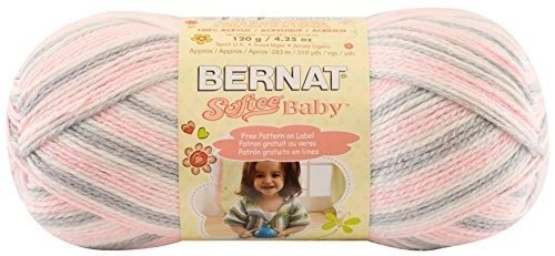 Bernat Softee Baby Yarn, Ombre, 4.2 Ounce, Pink Flannel, Single Ball - Bernat Pink Knitting Yarn