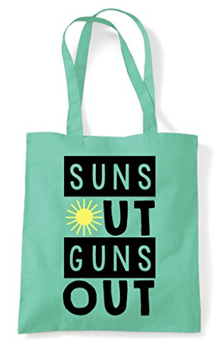Suns Statement Out Shopper Bag Tote Guns Summer Workout Mint rrPIq