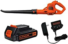 Black+Decker LSW221 20V Max Cordless Lithium-Ion Sweeper Kit, 1.5Ah, Orange