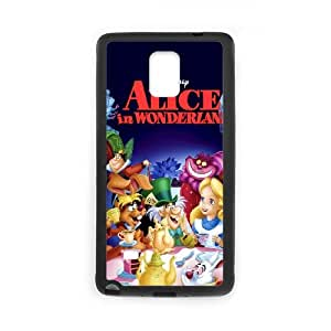 Samsung Galaxy Note 4 Cell Phone Case Black Alice in Wonderland Character Alice racp