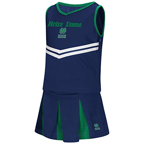 Colosseum NCAA Toddler-Girls Team Cheer Set-Notre Dame Fighting Irish-5T ()