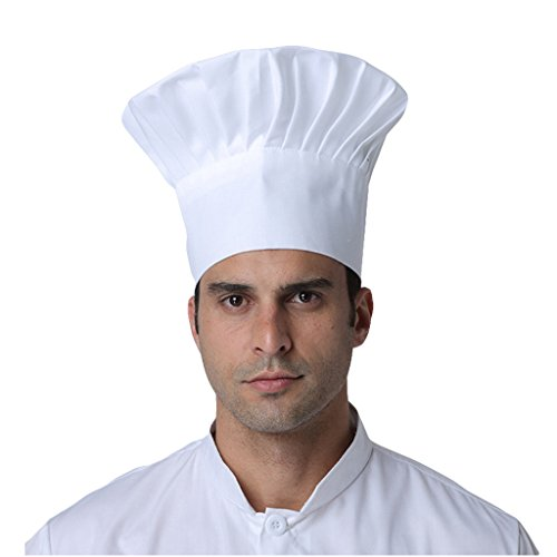 VMANNER Chef Hat Adult Adjustable Elastic Baker Kitchen Cooking Chef Cap One Size Multi Color