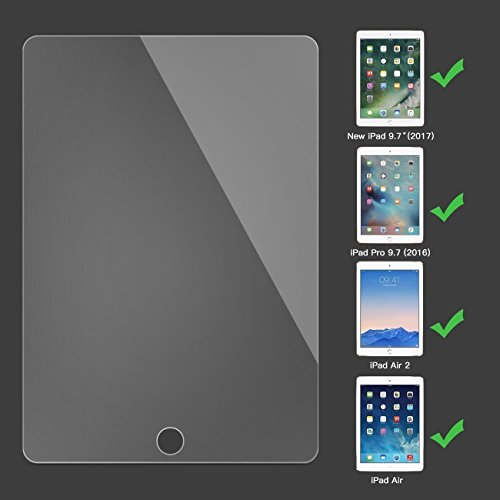 iPad Pro (9.7'') Glass Screen Protector, iPad Air / Air 2 / Premium Ballistic Tempered Glass [Multi-Touch Compatible] 0.3mm / 2.5D Round Edge Apple Pencil Compatible (iPad Pro - 9.7 Inch, Clear) by TRADOCK (Image #2)'