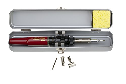Soldering Butane Kit - Master Appliance Ultratorch UT-100SiK Butane Powered Soldering Iron, 3 in 1 Tool with Metal Case