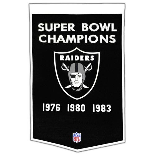 - Oakland Raiders Super Bowl Championship Dynasty Banner - with hanging rod