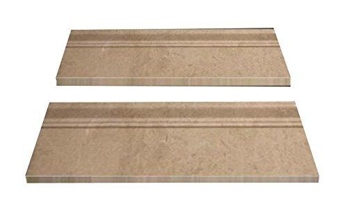 Cream Marfil Marble - Spanish Crema Cream Marfil Polished Marble Baseboard Trim Molding 4'' X 12'' (Pack of 5)