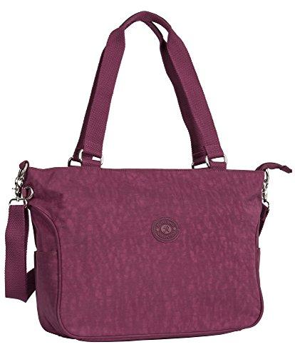 Bag Top 1 Shoulder Big Handbag Size Fabric Tote Rainproof Shop Large Red Wine Shopping Design Handle Large 66vxXqfp