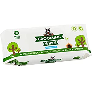 Pogi's Grooming Wipes - 100 Deodorizing Wipes for Dogs & Cats - Large, Hypoallergenic, Fragrance-Free 64