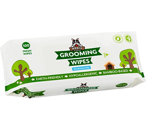 Pogi's Grooming Wipes - 100 Deodorizing Wipes for Dogs & Cats - Large, Hypoallergenic, Fragrance-Free (Bathing A Guinea Pig For The First Time)