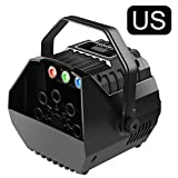 tebisi Mini Wireless Remote Control Automatic Bubble Machine with LED Light, High Output Rechargeable Bubble Maker for Activities Wedding Birthday Dance Parties Stage Show