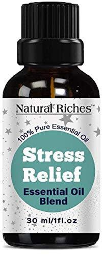 Stress Relief Anxiety Relief Essential Oil Blend 100% Pure, Therapeutic Grade Aromatherapy Essential Oil - 30ml -Ylang Ylang, Geranium, Lemongrass, Tangerine and Blood Orange for Relaxation.