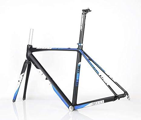 Am R5000 - Marco para bicicleta de carretera (700 C, aluminio), color mate, color azul y negro, tamaño 700Cx520mm: Amazon.es: Deportes y aire libre