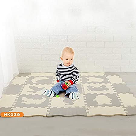 Baovery Puzzle Exercise Play Mats Set Crawling Mat Interlocking Foam Floor Tiles for Baby Toddlers
