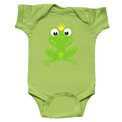 inktastic - Frog Prince, Cute Frog, Frog Infant Creeper 6 Months Key Lime 35a7e ()