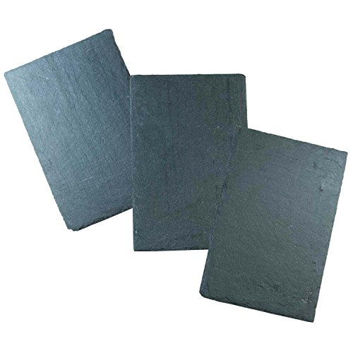 [Cohas Slate Food and Art Boards includes 3 Medium 8 by 12 Inch Boards, Undrilled Slate (Undrilled)] (Art Platter)