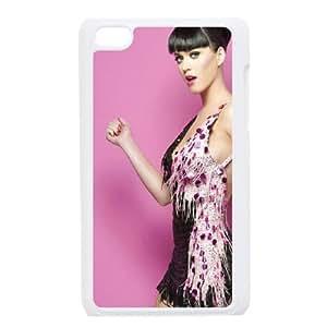 Katy Perry Pink funda iPod Touch 4 caja funda del teléfono celular blanco cubierta de la caja funda EEECBCAAJ03881