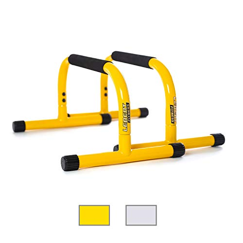 Cheap Lebert Fitness Parallettes Push Up Dip Stand, Yellow parallettes