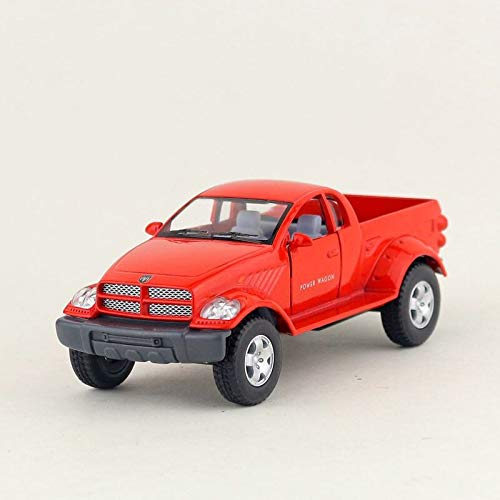 - Greensun DieCast Metal Model/1:42 Scale/Dodge Power Wagon Pickup Truck/Pull Back Toy Car/for Children's Gifts or Collection/Gift