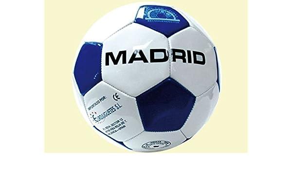 Pelota Madrid 360 Gramos Pvc N5 Diametro 22cm Bolsa: Amazon.es ...