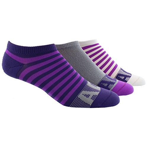Price comparison product image adidas Women's Climalite Superlite No Show Socks (3 Pack),  Unity Purple / Shock Purple / Grey Clear / White,  Size 5-10