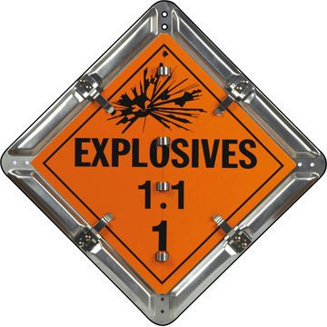 SmartSign 7 Legend Explosives Placard Set | 13.75