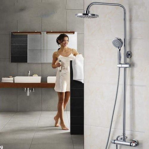 八瀬・王 ポリッシュクローム浴室の蛇口シャワーセットサーモスタット水栓シングルハンドル蛇口タップウォールはシャワー蛇口をマウント