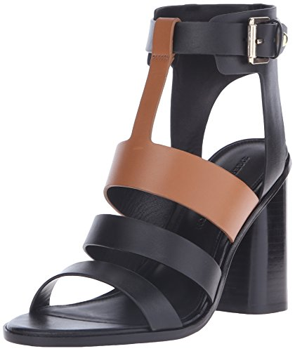 free shipping outlet Sigerson Morrison Women's Coria Dress Sandal Black/New Luggage cheap best sale Ieaqe