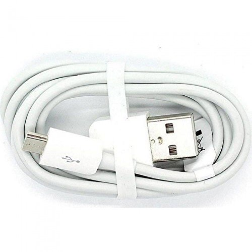 Huawei Data / Charging Cable – Micro USB – Grey/White – Compatible with Huawei Mobile Phones with Micro USB Connection