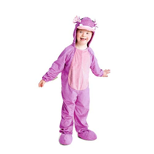 Baby Plush Hippo Halloween Costume Jumpsuit 2-3T Purple]()