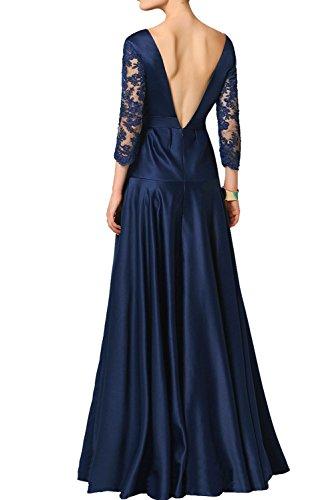 Aermel Ballkleider mit Ausschnitt Linie Promkleider A Bodenlang Damen Vintage Ivydressing langer Spitze Abendkleider V Grau Partykleider wx68WqUgA