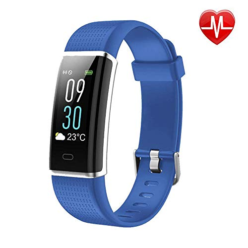 Mangcart Fitness Tracker with Heart Rate Monitor,Color Screen IP68 Waterproof Smart Wristband for Android and iOS (Blue)