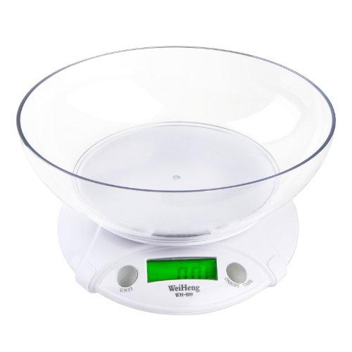 7KG/1G electrónico balanza digital de cocina báscula de alimentos con Tazón: Amazon.es