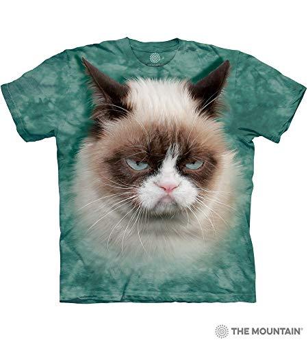 The Mountain Grumpy Cat-Xl Adult T-Shirt, Teal, XL (Best Of Grumpy Cat)