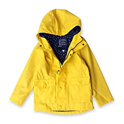 Star Flower Little Girls Rain Jacket Coa...
