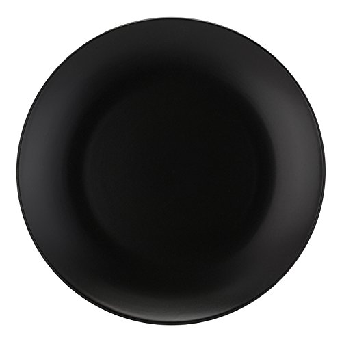 10 Strawberry Street Wazee Matte - 10.5'' Coupe Dinner Plate - Set of 6 - Black by 10 Strawberry Street
