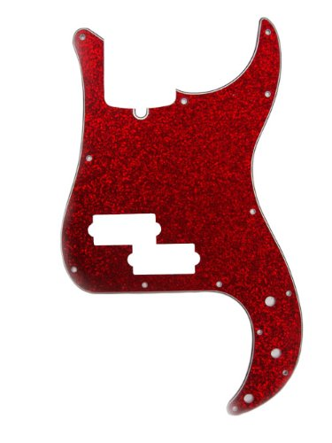 Guitar Red Sparkle Electric (D'Andrea DPP PB RDS Pro Pickguard P Bass for Electric Guitar, Red Sparkle)