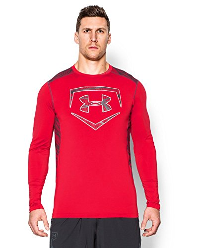 Under Armour Mens UA Raid Baseball Long Sleeve Shirt Medi...