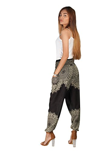 JOOP JOOP Bohemian Tapered Elephant Harem Loose Yoga Pants Onyx Small / Medium